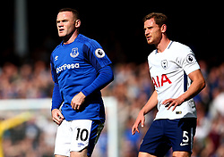 Wayne Rooney of Everton is marked by Jan Vertonghen of Tottenham Hotspur - Mandatory by-line: Robbie Stephenson/JMP - 09/09/2017 - FOOTBALL - Goodison Park - Liverpool, England - Everton v Tottenham Hotspur - Premier League