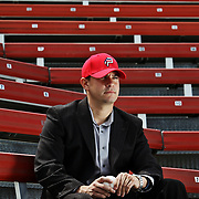 Josh Olerud, General Manager for the Washington Nationals single A affiliate, Potomac Nationals, in Woodbridge, Virginia.  For The News & Messenger