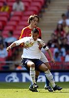 Photo: Olly Greenwood.<br />England U16 v Spain U16. International Friendly. 28/04/2007. England's Nicky Ajose and Spain's Angel Martinez Ortega