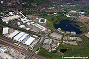 aerial photograph of Lakeside  Doncaster Yorkshire England UK