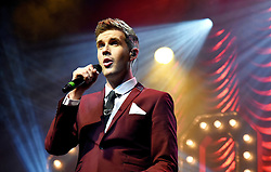 Collabro (Richard Hadfield, Jamie Lambert, Michael Auger, Tom Redgrave and Matt Pagan) perform at The Cliffs Pavilion, Southend-on-Sea, Essex on Friday 4  March 2016 following the release of their second Album Act Two.<br /> <br /> Collabro were the winners of the eight series of Britains Got Talent on 7.6.2014