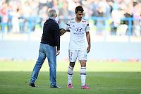 Patrice GARANDE / Clement GRENIER - 09.05.2015 -  Caen / Lyon  - 36eme journee de Ligue 1<br />Photo : Vincent Michel / Icon Sport