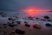 Winter Solstice sunrise, Little Presque Isle, Marquette County MI
