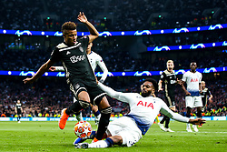 Danny Rose of Tottenham Hotspur tackles David Neres of Ajax - Mandatory by-line: Robbie Stephenson/JMP - 30/04/2019 - FOOTBALL - Tottenham Hotspur Stadium - London, England - Tottenham Hotspur v Ajax - UEFA Champions League Semi-Final 1st Leg