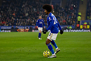 Hamza Choudhury (20) on the ball during the Premier League match between Leicester City and Watford at the King Power Stadium, Leicester, England on 4 December 2019.