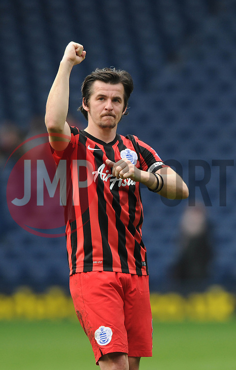 Queens Park Rangers' Joey Barton celebrates towards the away fans after beating West Bromwich Albion - Photo mandatory by-line: Dougie Allward/JMP - Mobile: 07966 386802 - 04/04/2015 - SPORT - Football - West Bromwich - The Hawthorns - West Bromwich Albion v QPR - Barclays Premier League
