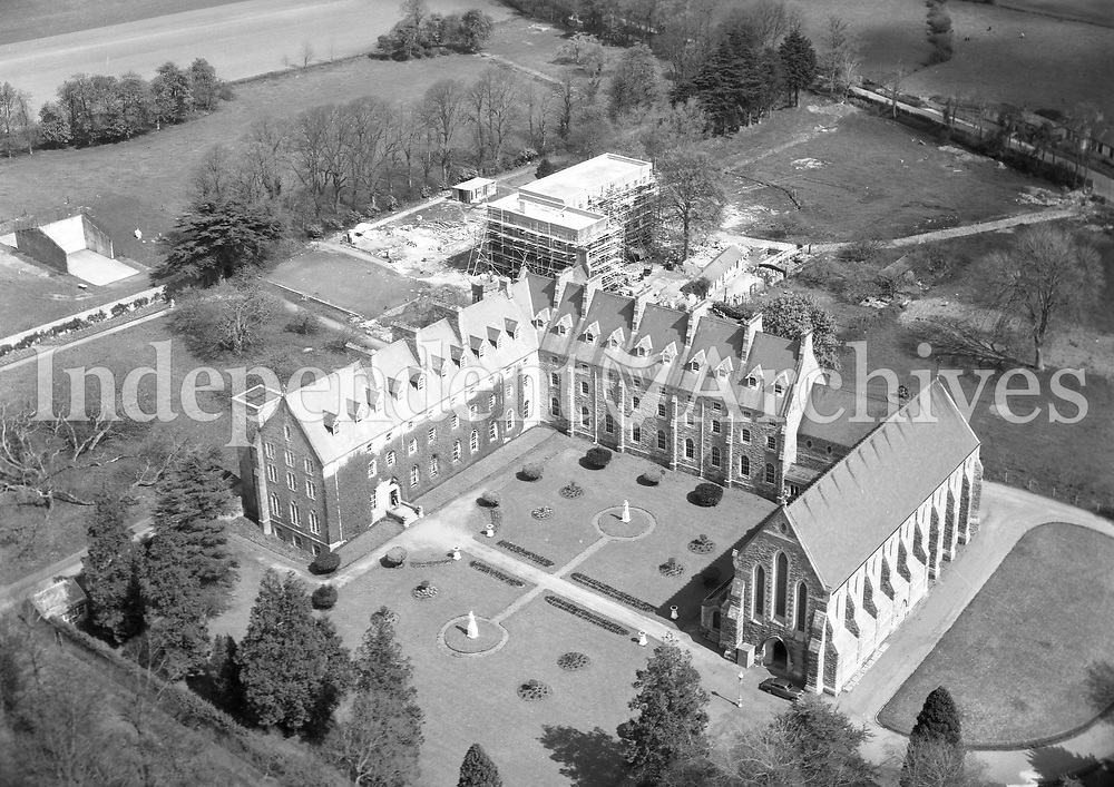 A415 Tallaght, Dominicans.   14/09/56. (Part of the Independent Newspapers Ireland/NLI collection.)<br /> <br /> <br /> These aerial views of Ireland from the Morgan Collection were taken during the mid-1950's, comprising medium and low altitude black-and-white birds-eye views of places and events, many of which were commissioned by clients. From 1951 to 1958 a different aerial picture was published each Friday in the Irish Independent in a series called, 'Views from the Air'.The photographer was Alexander 'Monkey' Campbell Morgan (1919-1958). Born in London and part of the Royal Artillery Air Corps, on leaving the army he started Aerophotos in Ireland. He was killed when, on business, his plane crashed flying from Shannon.