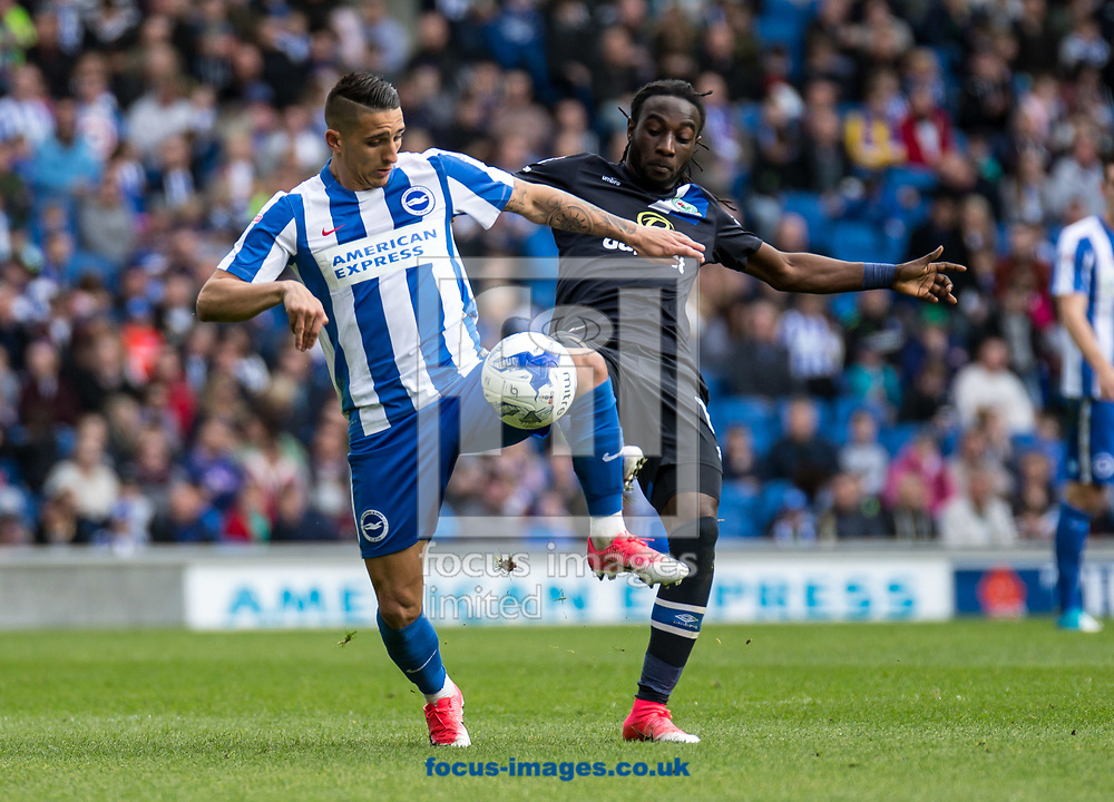 Anthony Knockaert of Brighton &amp; Hove Albion during the Sky Bet Championship match at the American Express Community Stadium, Brighton and Hove<br /> Picture by Liam McAvoy/Focus Images Ltd 07413 543156<br /> 01/04/2017