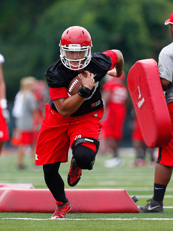 Rutgers Scarlet Knights hold their first day of practice in Piscataway, NJ on August 1, 2014.