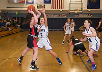 Interlaces v Moultonboro varsity basketball NHIAA Division III.  Karen Bobotas for the Laconia Daily Sun