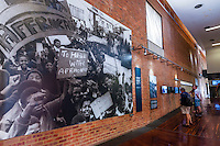 Hector Pieterson Museum, Soweto, Johannesburg, South Africa. The museum documents the history of the 1976 Soweto uprising. The site is where 13 year old Hector Pieterson was killed.