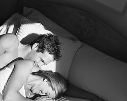 Couple enjoying time together in bed