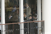 28 March 2010-New York, NY-Louis Sarkozy dines with his Father, Nicholas Sarkozy, at Central Park's Boat House at Nicholas Sarkozy's Visit to the United States of America held at The Carlyle Hotel in New York City  on March 28, 2010. ..The President of France and his wife, Carla Bruni-Sarkozy are visiting New York City for a short visit before their Tuesday visit at The White House visit with President Obama. Photo Credit: Terrence Jennings/Sipa