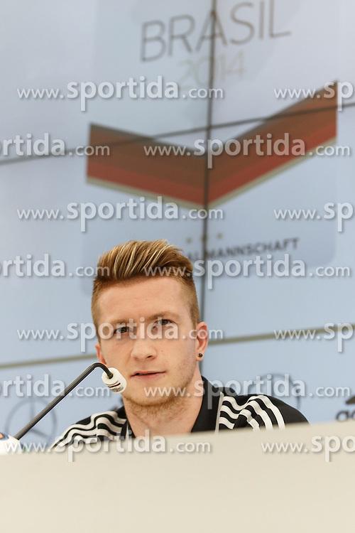 24.05.2014, Sportplatz, St. Martin Passeiertal, ITA, FIFA WM, Vorbereitung Deutschland, im Bild Marco Reus (Deutschland) // during Trainingscamp of Team Germany for Preparation of the FIFA Worldcup Brasil 2014 at the Sportplatz in St. Martin Passeiertal, Italy on 2014/05/24. EXPA Pictures &copy; 2014, PhotoCredit: EXPA/ Eibner-Pressefoto/ Neis<br /> <br /> *****ATTENTION - OUT of GER*****