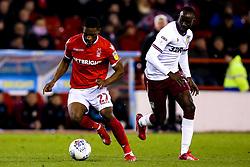 Tendayi Darikwa of Nottingham Forest takes on Albert Adomah of Aston Villa - Mandatory by-line: Robbie Stephenson/JMP - 13/03/2019 - FOOTBALL - The City Ground - Nottingham, England - Nottingham Forest v Aston Villa - Sky Bet Championship