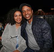 DEN BOSCH, THE NETHERLANDS. 2017, MAY 20. Humberto Tan en zijn dochter bij Glory Kickboxing 41 Holland in de Brabanthallen.