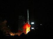 XICHANG, CHINA - DECEMBER 29: (CHINA OUT) I<br /> <br /> China Launches Gaofen-4 Earth Observation Satellite<br /> <br /> mage shows the Long March3B carrier rocket is launched the Gaofen4 Satellite in Xichang of southwest Chinas Sichuan Province at 12:04 am into the geosynchronous orbit that is nearly 36,000 km above the Earth early Tuesday on December 29, 2015 in Xichang, Sichuan Province of China. China launched the Gaofen project in May 2010 and has listed it as one of the 16 national important projects in science and technology. The first in the system, Gaofen-1, was sent into space from the Jiuquan Satellite Launch Center in Inner Mongolia in April 2013. Another four Gaofen satellites were launched in 2014 and 2015. <br /> ©Exclusivepix Media