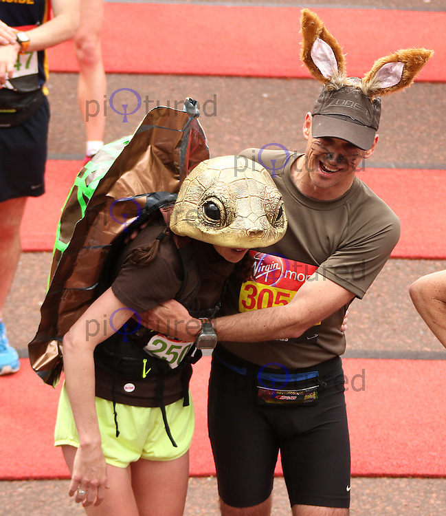 Tortoise and the Hare, Virgin Money London Marathon, London UK, 24 April 2016, Photo by Brett D. Cove