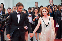 Julianne Moore and Bart Freundlich at the premiere of the film Suburbicon at the 74th Venice Film Festival, Sala Grande on Saturday 2 September 2017, Venice Lido, Italy.