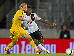 01.06.2012, Tivoli, Innsbruck, AUT, UEFA EURO 2012, Testspiel, Oesterreich vs Ukraine, im Bild Bayern Spieler unter sich Anatoliy Tymoshchuk, (UKR, # 04) vs David Alaba, (AUT, #27) // Anatoliy Tymoshchuk, (UKR, # 04) vs David Alaba, (AUT, #27) during Preparation Game for the UEFA Euro 2012 betweeen Austria and Ukraine at the at the Tivoli Stadium, Innsbruck, Austria on 2012/06/01. EXPA Pictures © 2012, PhotoCredit: EXPA/ Juergen Feichter