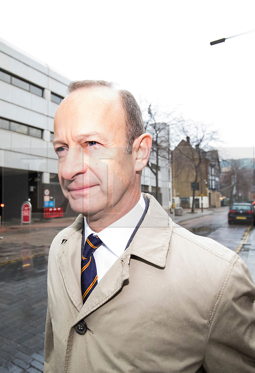 © Licensed to London News Pictures. 21/01/2018. London, UK. UKIP leader Henry Bolton at the ITV Studios on Southbank. Bolton faces a vote of no confidence from UKIP party members after controversy surrounding his relationship with Jo Marney. Photo credit: Rob Pinney/LNP
