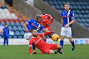 Calvin Andrew's pass sets up Rochdale's 3rd goal during the EFL Sky Bet League 1 match between Rochdale and Charlton Athletic at Spotland, Rochdale, England on 18 February 2017. Photo by Daniel Youngs.