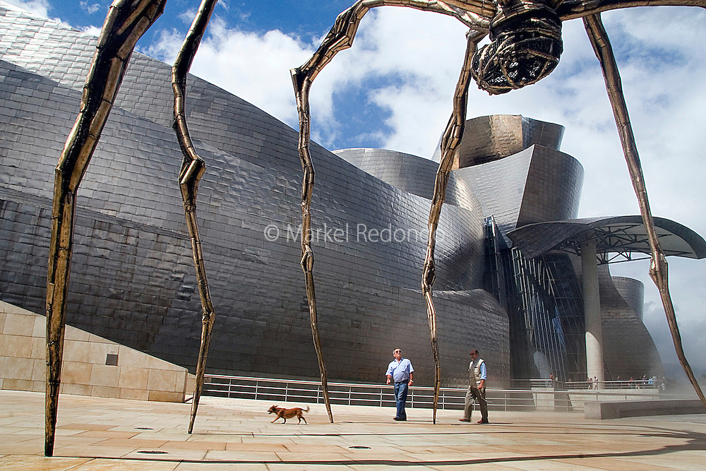 The Guggenheim musseum has become one of the symbols of the city of Bilbao, in the heart of the Basque Country.