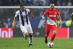 December 6, 2017 - Porto, Porto, Portugal - Joao Moutinho midfielder of AS Monaco FC (R) in action with Porto's Brazilian forward Soares (L) during the UEFA Champions League Group G match between FC Porto and AS Monaco FC at Dragao Stadium on December 6, 2017 in Porto, Portugal. (Credit Image: © Dpi/NurPhoto via ZUMA Press)
