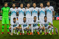 Slovenian national team during football match between National Teams of Slovenia and Norwey in UEFA Nations League 2019, on November 16, 2018 in SRC Stozice, Ljubljana, Slovenia. Photo by Grega Valancic / Sportida