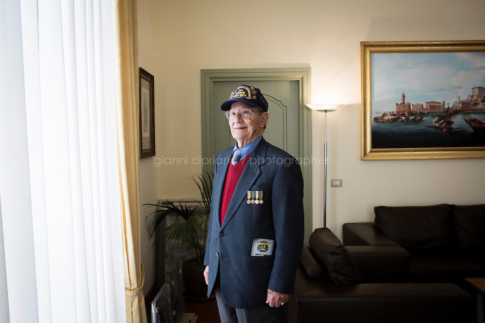 ANZIO, ITALY - 21 January 2014: Alfredo Rinaldi, 86, poses for a portrait in the town hall of Anzio, Italy, on January 21st 2014.