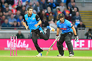Wayne Parnell of Worcestershire bowling during the final of the Vitality T20 Finals Day 2018 match between Worcestershire Rapids and Sussex Sharks at Edgbaston, Birmingham, United Kingdom on 15 September 2018.