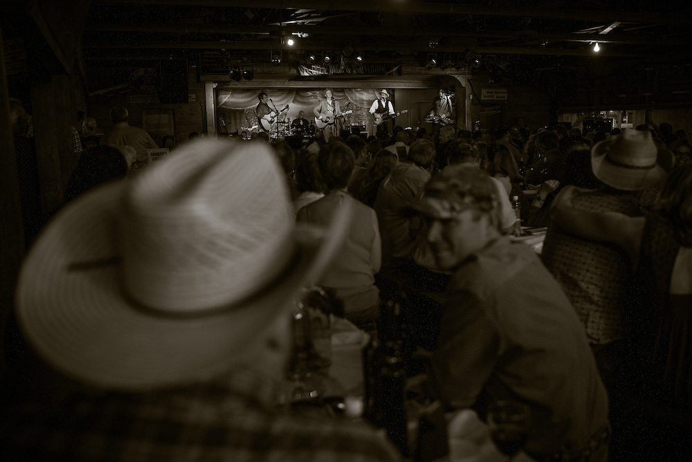 Robert Earl Keen and the Robert Earl Keen Band in concert at Gruene Hall in New Braunfels, Texas on October 10, 2014.