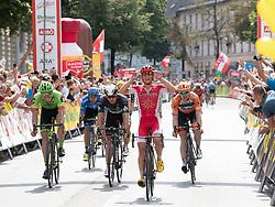 08.07.2017, Wels, AUT, Ö-Tour, Österreich Radrundfahrt 2017, 6. Etappe von St. Johann/Alpendorf nach Wels (203,9 km), im Bild Clement Venturini (FRA, Cofidis, Solution Credits) Etappensieger // Clement Venturini of France (Cofidis Solutions Credits) stage winner during the 6th stage from St. Johann/Alpendorf to Wels (203,9 km) of 2017 Tour of Austria. Wels, Austria on 2017/07/08. EXPA Pictures © 2017, PhotoCredit: EXPA/ Reinhard Eisenbauer