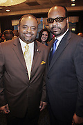 14 April 2010- New York, NY- l to r: Roland Martin and Donald Coleman at the Executive Director's Reception hosted by Veronica Webb and Andre Harrell and held at The Central Park East Ballroom, Sheraton New York Hotel on April 14, 2010 in New York City.