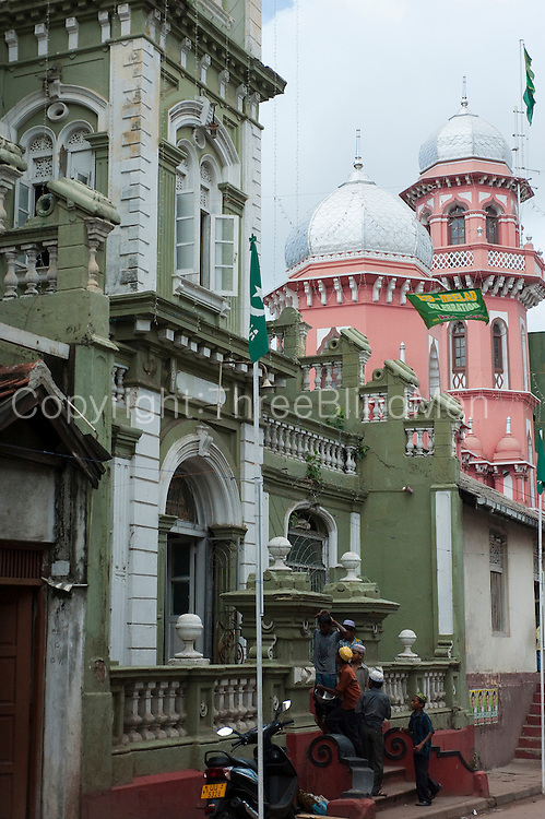Mosques on New Moor Street, Colombo.