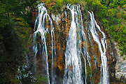 Waterfall along the Korana River, Plitvice Lakes National Park, Croatia