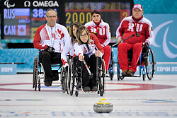 Dennis Thiessen, Sonja Gaudet, Ina Forrest, Wheelchair Curling Finals at the 2014 Sochi Winter Paralympic Games, Russia