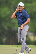 Lloyd Jefferson GO (PHI) reacts after barely missing his putt on 18 during Rd 3 of the Asia-Pacific Amateur Championship, Sentosa Golf Club, Singapore. 10/6/2018.<br /> Picture: Golffile | Ken Murray<br /> <br /> <br /> All photo usage must carry mandatory copyright credit (© Golffile | Ken Murray)