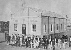 Reprodução de foto do Museu do Imigrante, em São Leopoldo mostra o prédio da Sociedade Ginástica contruído em 1905. Antes desta data muitos dos seu bailes se realizavam na Sociedade Orpheu. FOTO: Lucas Uebel/Preview.com