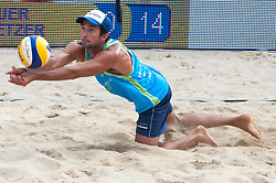 Julian Amando Azaad at Beach Volleyball Challenge Ljubljana 2014, on August 2, 2014 in Kongresni trg, Ljubljana, Slovenia. Photo by Matic Klansek Velej / Sportida.com