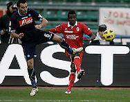 Bari (BA), 23-01-2011 ITALY - Italian Soccer Championship Day 21 - Bari VS Napoli..Pictured: Aronica (N) Alvarez (B)..Photo by Giovanni Marino/OTNPhotos . Obligatory Credit