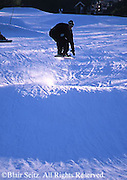 Snow board jumping,  NE PA ski slope, Poconos