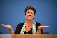 DEU, Deutschland, Germany, Berlin, 16.10.2017: Anja Piel, Niedersächsiche Spitzenkandidatin von B90/Die Grünen, in der Bundespressekonferenz zu den Ergebnissen der Landtagswahlen in Niedersachsen.