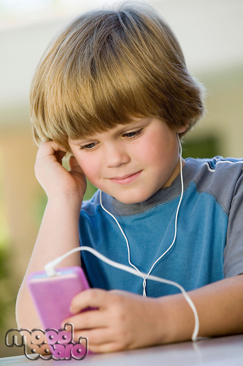 Boy Listening to Music on iPod