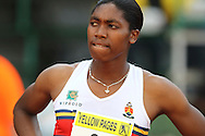 POTCHEFSTROOM, SOUTH AFRICA, Saturday 24 March 2012, Caster Semenya before the start of the 800m for women during the Yellow Pages Series 2 athletics meeting at the McArthur Stadium..Photo by Roger Sedres/Image SA