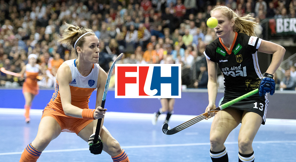 BERLIN - Indoor Hockey World Cup<br /> Final: Netherlands - Germany<br /> foto: Donja Zwinkels <br /> WORLDSPORTPICS COPYRIGHT FRANK UIJLENBROEK