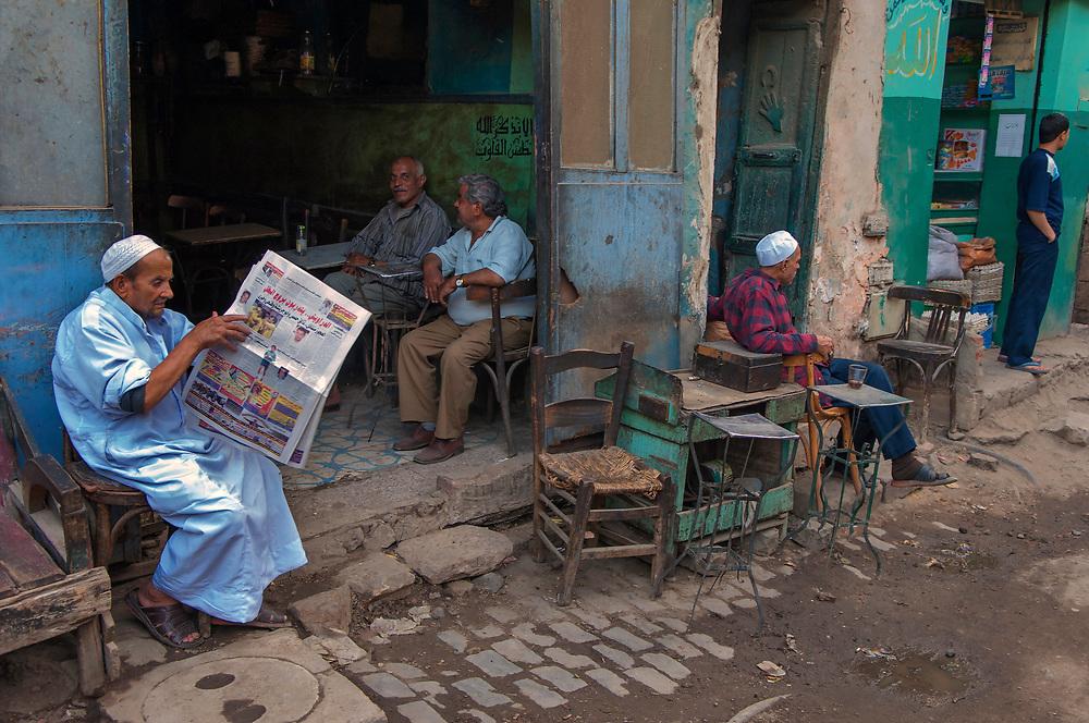 Cafe in the Khan el Khalili, Cairo