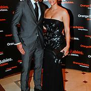 NLD/Noordwijk/20110625 - Orange Babies Gala 2011, Kris Bozilovic en partner Tamar Gonen