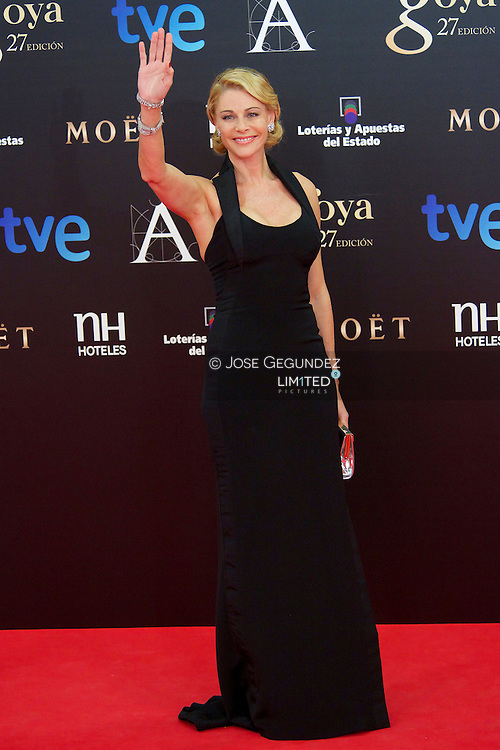 Belen Rueda arrives to Goya Cinema Awards 2013 ceremony, at Auditorium Hotel on February 17, 2013 in Madrid, Spain