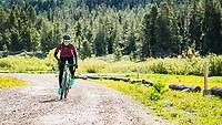 Rita Jett explores Fall Creek, Wyoming.